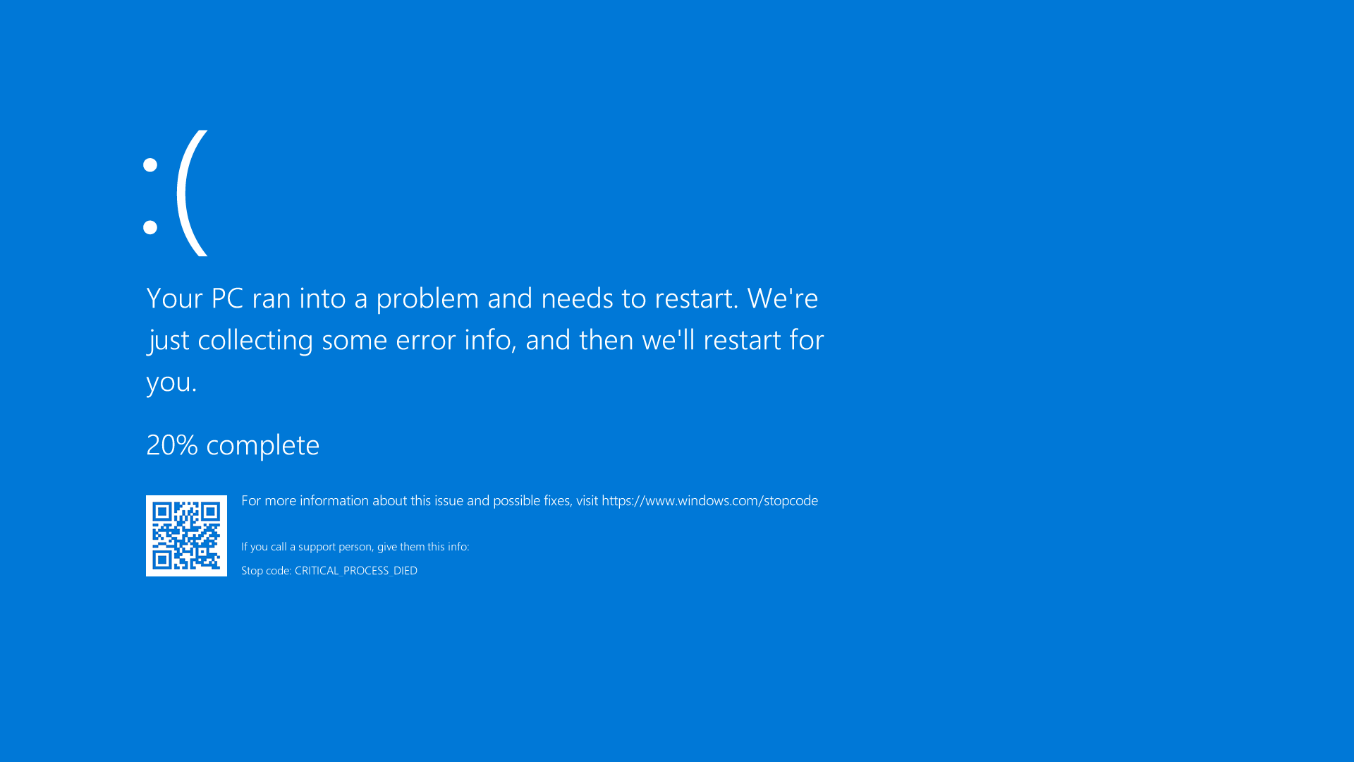 Windows 10 blue screen