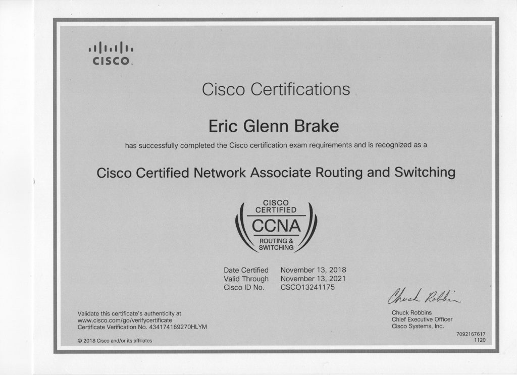 cisco certified networking associate